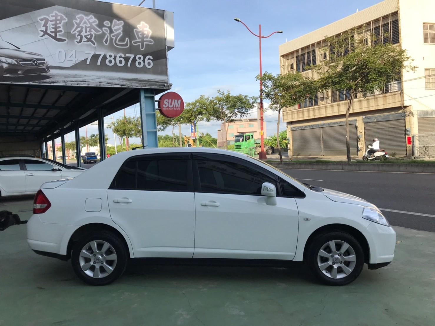 2017TIIDA 4D 里程保證 認證車 白色黑內裝 代步上課通勤好停車 SUM29.8 1.6c_210615_3